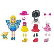 Boneca Polly Pocket Pet com Looks Combinados Mattel -
