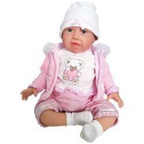 Boneca Reborn Cuddle Bear Bella - com Acessórios Shiny Toys