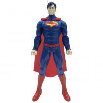 Boneco Articulado com Mecanismos - 35 cm - DC Comics - Liga da Justiça - Superman - Candide - Candide