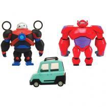 """Boneco Big Hero Squish To Fit BayMax 6"""" - com Acessórios Sunny Brinquedos"""