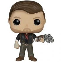 Boneco Colecionável Pop Games - BioShock Infinite - Booker DeWitt Skyhook 10,5cm Funko