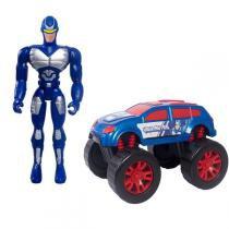 Boneco Com Carro Super Escudeiro de Aço - Mielle - Unik toys