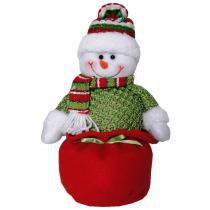 Boneco de neve em pelúcia com 30cm de altura cbrn0234 cd0019 - Commerce brasil