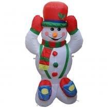 Boneco de neve inflável 1,20m iluminado - 1590 - Xl
