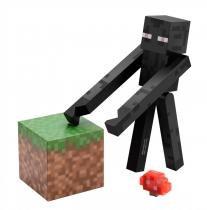 Boneco Enderman Minecraft com Acessórios - BR144A - Minecraft