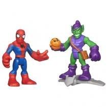 Boneco Homem Aranha e Duende Verde - Playskool Heroes 20,3cm Hasbro