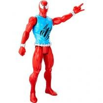 Boneco homem-aranha titan hero scarlet spider hasbro b9710/c0018 12023 -