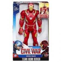 Boneco homem de ferro eletronico titan hero hasbro b6177 11741 - Hasbro