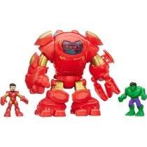 Boneco Homem de Ferro Playskool Heroes - Armadura Star Tech 20,5cm com Acessórios Hasbro