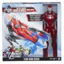 """Boneco Homem de Ferro Série Hero Titan 12"""" e Veículo - Hasbro -"""