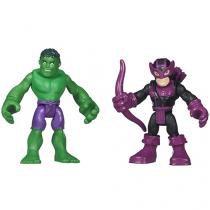 Boneco Hulk e Hawkeye Playskool Heroes 20,3cm - Hasbro