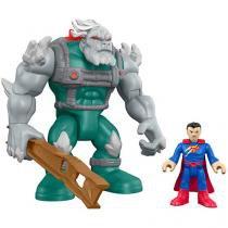 Boneco Imaginext Apocalypse e Super Man - DC Super Friends com Acessórios Fisher-Price