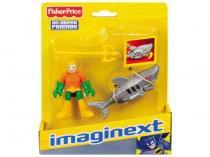 Boneco Imaginext Aquaman e Tubarão Robô - Super Friends com Acessórios Fisher-Price