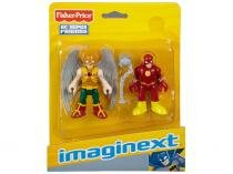 Boneco Imaginext - DC Super Friends Flash and - Hawkman com Acessórios 19cm - Fisher-Price