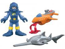 Boneco Imaginext Deep Sea Diver com Acessórios - Fisher-Price