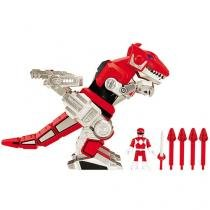 Boneco Imaginext Mighty Morphin Power Rangers Red - Ranger & T-Rex Zord com Acessórios Fisher-Price