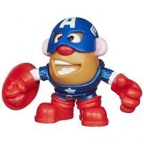 Boneco Marvel Capitão América Playskool  - Sr. Cabeça de Batata com Acessórios Hasbro