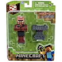 Boneco minecraft figura villager blacksmith multikids br399 -