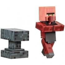 Boneco Minecraft Overworld Aldeão Ferreiro Blacksmith - Multikids