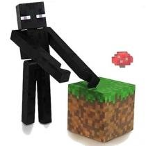 Boneco Minecraft Overworld Enderman - Multikids