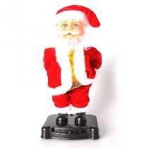 Boneco Papai Noel Garrafa de Natal com Luz e Música - Aluá Festas