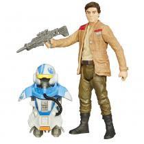 Boneco Poe Dameron Star Wars EPVII Hasbro 9cm B3893 com Armadura - Hasbro