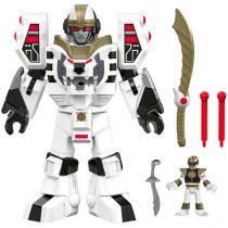 Boneco Ranger Branco e Tigerzord Guerreiro - Imaginext - Power Rangers Fisher-Price