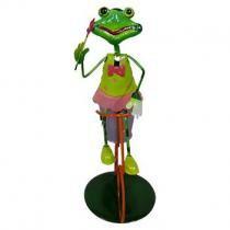 Boneco Sapo com Bicicleta Para Enfeite e Decoraçao Jardim e Flores (BON-M-14) - Braslu