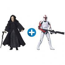Boneco Star Wars Black Series Clone Captain - com Mecanismo + Boneco Star Wars Black Series