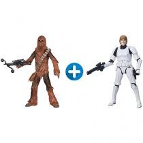 Boneco Star Wars Black Series Luke Skywalker - com Mecanismo + Boneco Star Wars Black Series