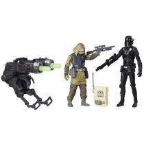 Boneco Star Wars - Rogue One - Death Trooper e Rebel Commando