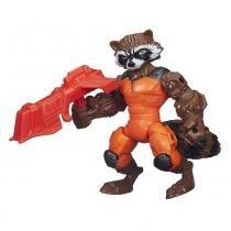 Boneco Super Hero Marvel Mashers Rocket Traccoon - Hasbro - Marvel
