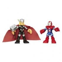 Boneco Thor e Patriota Playskool - Marvel Super Hero Adventures Hasbro