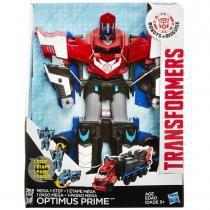 Boneco transformers mega - optimus prime - 3 steps- b1564 - hasbro -