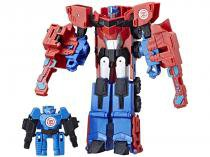 Boneco Transformers - Robots in Disguise - Combiner Force Hi-Test e Optimus Prime Hasbro