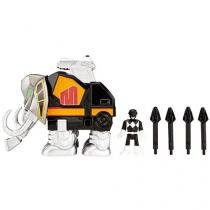 Bonecos Imaginext Mighty Morphin Power Rangers - Black Ranger & Mastodon Zord Fisher-Price