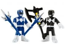 Bonecos Imaginext Mighty Morphin Power Rangers - Blue Ranger & Black Ranger Mattel
