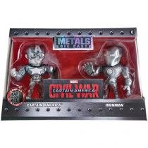 Bonecos Metals Die Cast Civil War - Captain America e Iron Man DTC