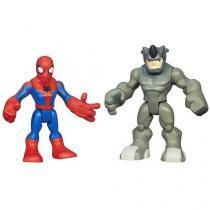 Bonecos Spider-Man e Rhino - Marvel Super Hero Adventures