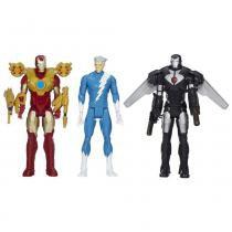 Bonecos Titan Hero com 3 Personagens 30cm Avengers B2268 Hasbro - Hasbro