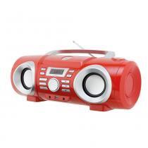 Boombox Áudio Philco PB130V, MP3, USB, Vermelho - Bivolt -
