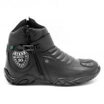 1e5b8592a Bota Motociclista Cano Curto Preta Logo Atron 271 - Atron shoes