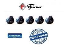 Botão Fogão Cooktop Fischer Original C12557 Kit 5 Peças - Fritania