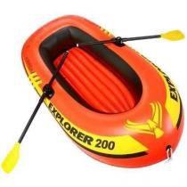 Bote Inflável 200 Intex 2 Pessoas Até 95kg + Remo + Bomba -