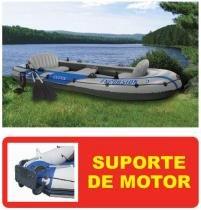 Bote Inflável Intex Excursion 5 Com Par de Remos e SUPORTE DE MOTOR -
