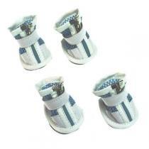 Botinha para Cães Chalesco Azul Tamanho 4 -