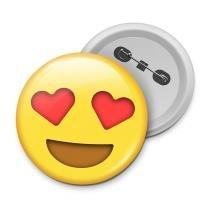 Botton emoticon - emoji amor - Yaay