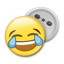 Botton emoticon - emoji chorando de rir - Yaay