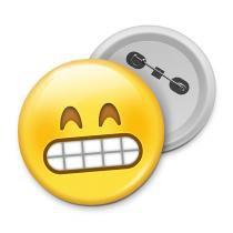 Botton emoticon - emoji super feliz - Yaay