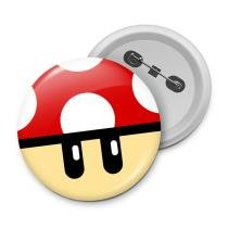Botton gamer cogumelo vermelho grow up - Yaay